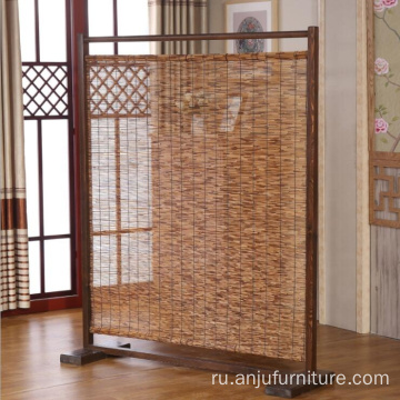 Reed Folding Room Screen Divider